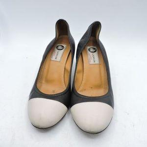 Lanvin Ballerina Captoe Heels Size 8 EU 38